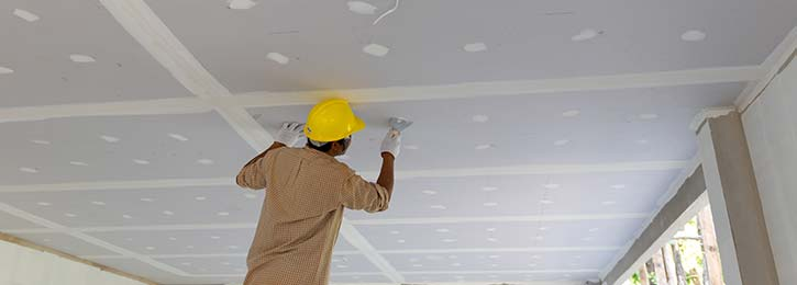afwerken gyproc plafondplaten